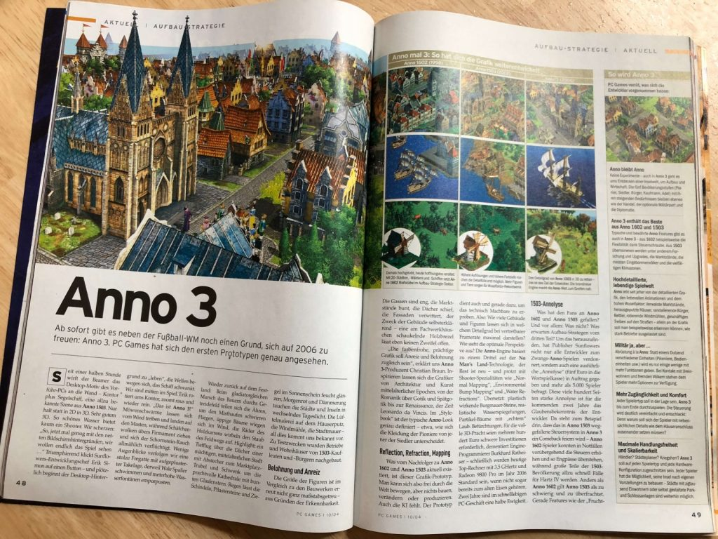 PC Games 10/2004 Anno 3 Titelstory Doppelseite