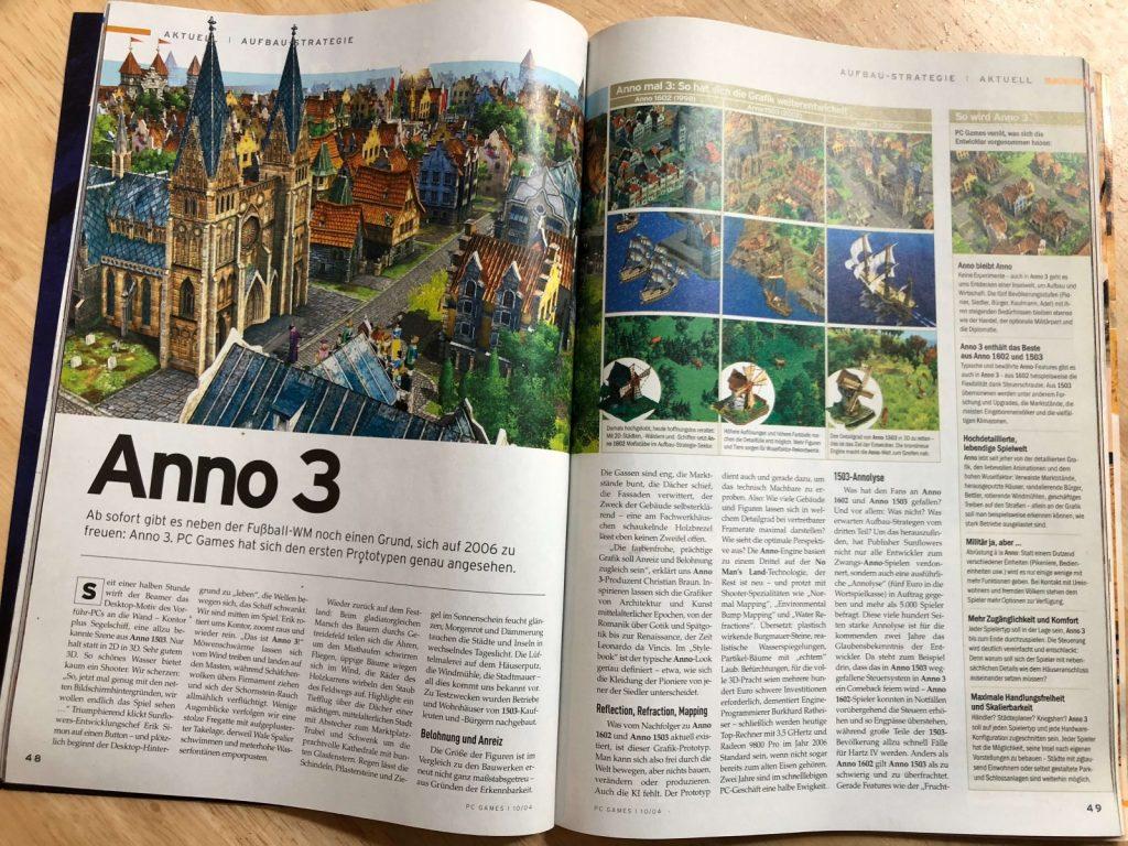 PC Games 10/2004 Anno 3 Titelstory Doppelseite