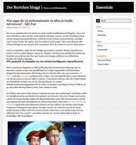 Writer's Blog - war mir dann doch zu schlicht