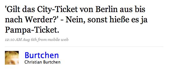 Tweet City-Ticket