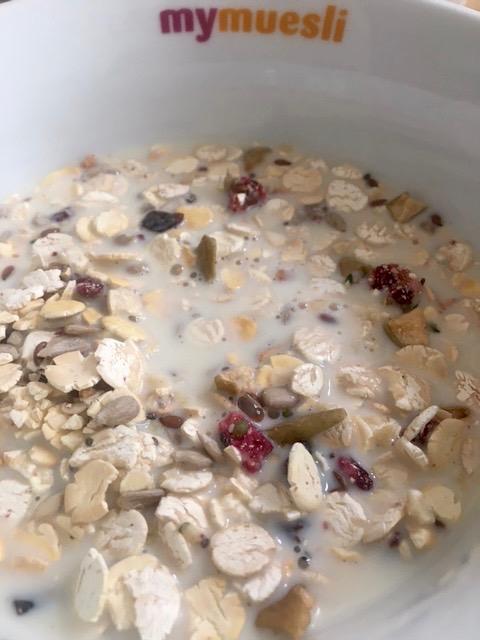 40%-Protein-Müsli von mymuesli: Serviervorschlag.
