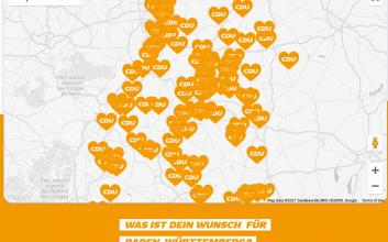 """Tool """"Dein Wunsch für Baden-Württemberg"""" der CDU"""
